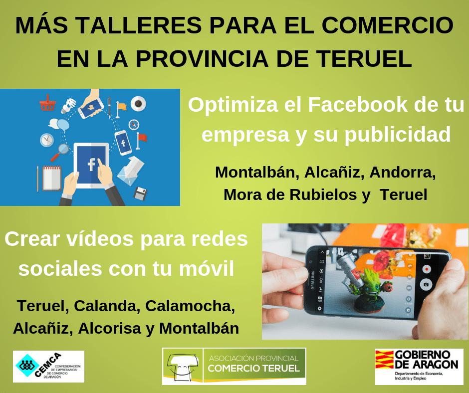 Mas Talleres para Pymes Comerciales en la provincia de Teruel: Facebook y Vídeos