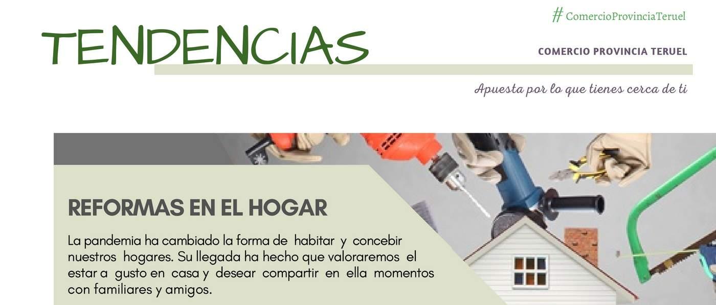Tendencias 2021 en Reformas en el Hogar. Cepyme Teruel